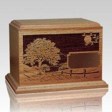 Road Home Walnut Wood Urn