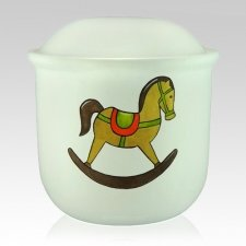 Rocking Horse Child Urn