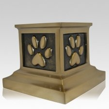 Roman Paw Bronze Pet Urn