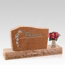 Rosa Companion Granite Headstone