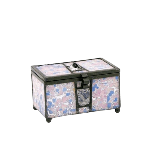 Rose Cathedral Glass Small Memory Chest