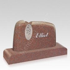 Rose Companion Granite Headstone