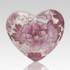 Rose Copper Heart Keepsake Urn