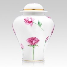 Rose Porcelain Cremation Urns