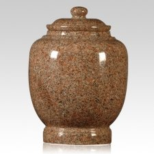 Rose Satin Granite Cremation Urn