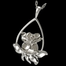 Rose Tear Cremation Pendant III