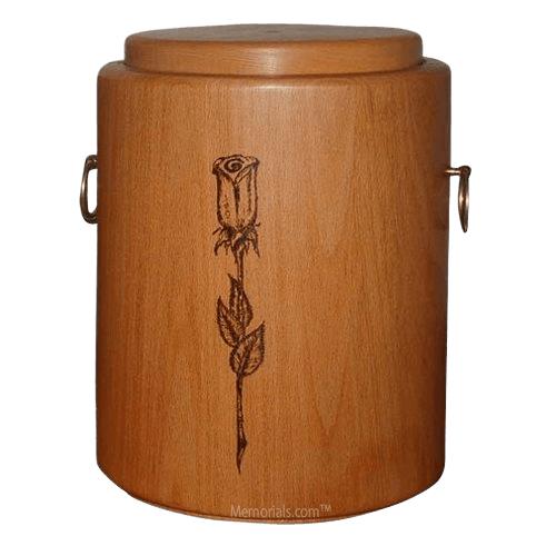 Rosebud Wood Cremation Urn