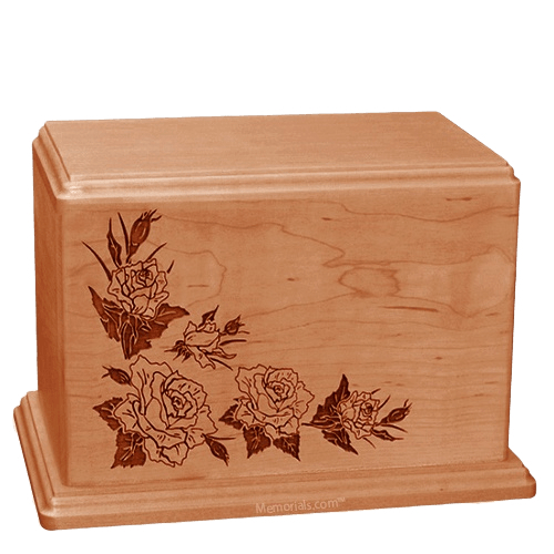 Roses Companion Cherry Wood Urn