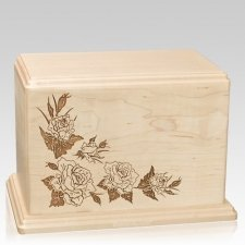 Roses Companion Maple Wood Urn