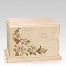 Roses Individual Maple Wood Urn