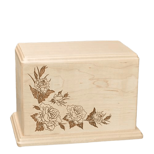 Roses Individual Maple Wood Urn