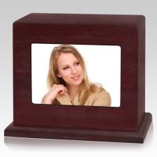 Rosewood Photo Child Cremation Urn
