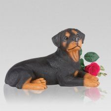 Rottweiler Dog Cremation Urn
