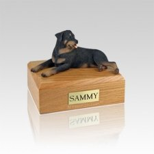 Rottweiler Laying Medium Dog Urn