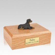 Rottweiler Resting Large Dog Urn