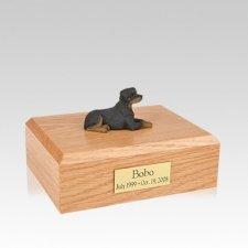 Rottweiler Resting Medium Dog Urn