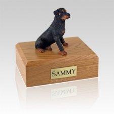 Rottweiler Sitting Large Dog Urn