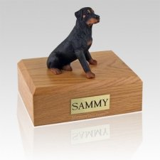 Rottweiler Sitting Dog Urns