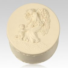 Round Angel Keepsake Box