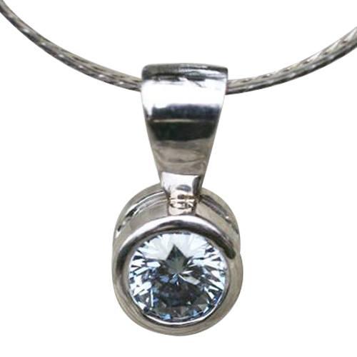 Round Solitaire Pendant