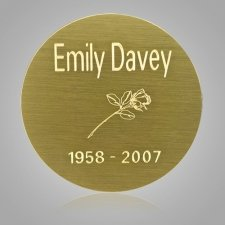 Round Urn Engraving Plate