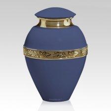 Royal Azure Metal Cremation Urn