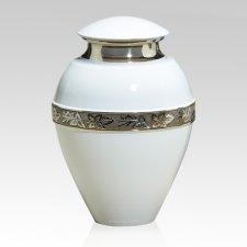 Royal Blanc Metal Cremation Urn