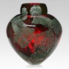 Ruby Dream Glass Cremation Urn
