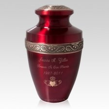 Ruby Red Pet Cremation Urn