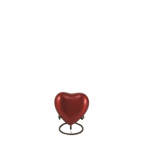 Ruby Solaris Heart Keepsake Urn