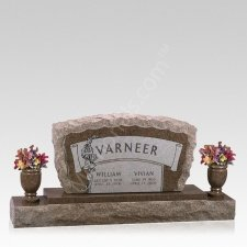 Rustic Cemetery Grave Headstone