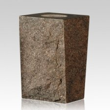 India Red Rustic Granite Vase