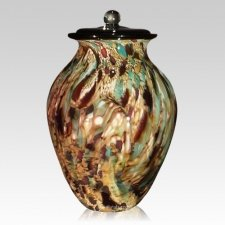Rustic Glass Cremation Urn