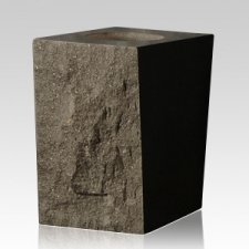 Black Satin Rustic Granite Vase