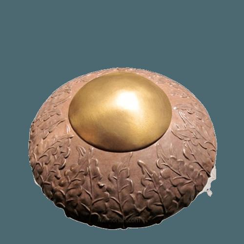 Rustic Ivy Medium Bronze Cremation Urn