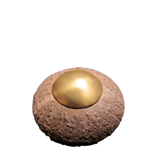 Rustic Ivy Small Bronze Cremation Urn