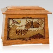 Rustic Paradise Mahogany Aristocrat Cremation Urn