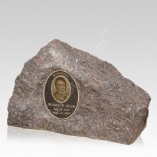 Rustic Portrait Cremation Stone Rock