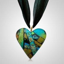Rusty Green Heart Ashes Pendants