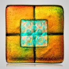 Rusty Green Pet Cremation Ashes Tile