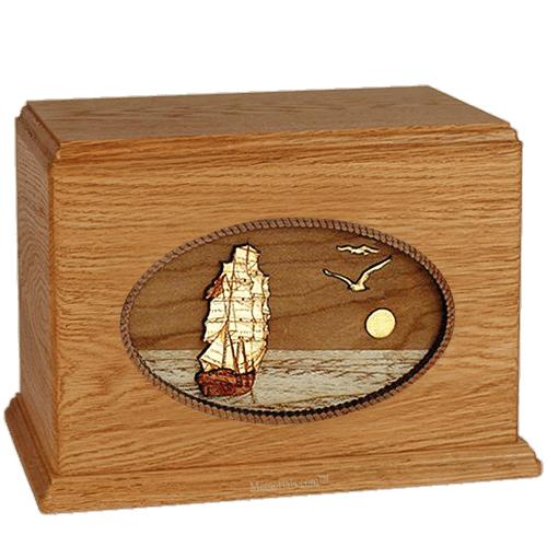 Sailing Home Mahogany Companion Urn
