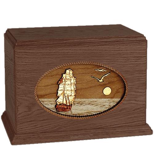 Sailing Home Walnut Companion Urn