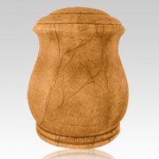 Serenity Amber Alabaster Cremation Urn