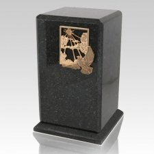 Grande Cambrian Black Granite Urn