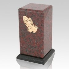 Stylus African Red Granite Cremation Urn