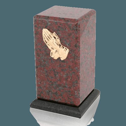 Stylus African Red Granite Cremation Urn