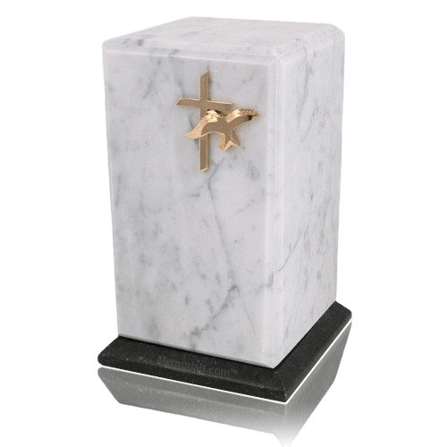 Grande Bianco Marble Cremation Urns