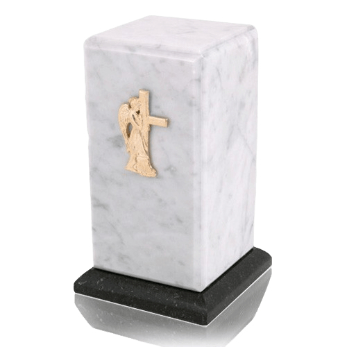 Stylus Bianco Carrera Marble Cremation Urn