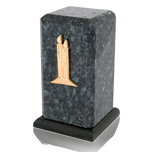 Stylus Blue Pearl Granite Cremation Urn