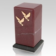 Stylus Rosso Laguna Marble Cremation Urn